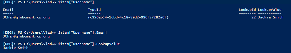 Get Value from People Picker in SharePoint Online PowerShell