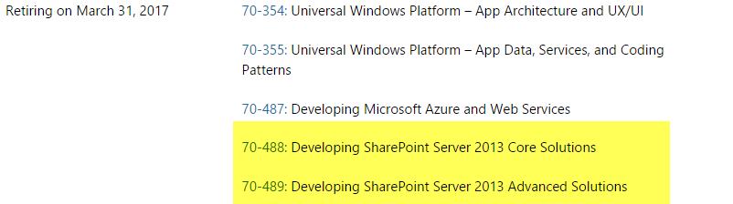 Microsoft Delays SharePoint 2013 MCSD Retirement