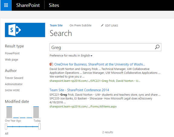 Cloud Search Service Application On-Premises