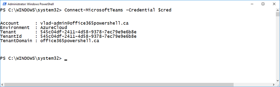 Microsoft Teams PowerShell