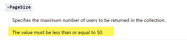 More Than 50 External Users With the Get-SPOExternalUser