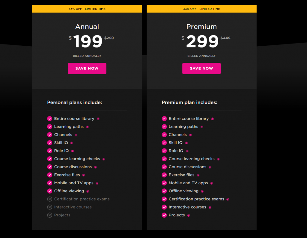 Save 33% off your Pluralsight Subscription